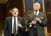 Yes, Prime Minister<br /> by Antony Jay &amp; Jonathan Lynn<br /> at the Apollo Theatre, London, Great Britain <br /> Press Photocall<br /> 6th July 2011 <br /> <br /> Simon Williams (as Sir Humphrey Appleby)<br /> <br /> Richard McCabe (as Jim Hacker)<br /> <br /> <br /> Photograph by Elliott Franks