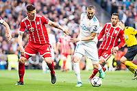 Real Madrid Karim Benzema and Bayern Munich Niklas Sule during Semi Finals UEFA Champions League match between Real Madrid and Bayern Munich at Santiago Bernabeu Stadium in Madrid, Spain. May 01, 2018. (ALTERPHOTOS/Borja B.Hojas)