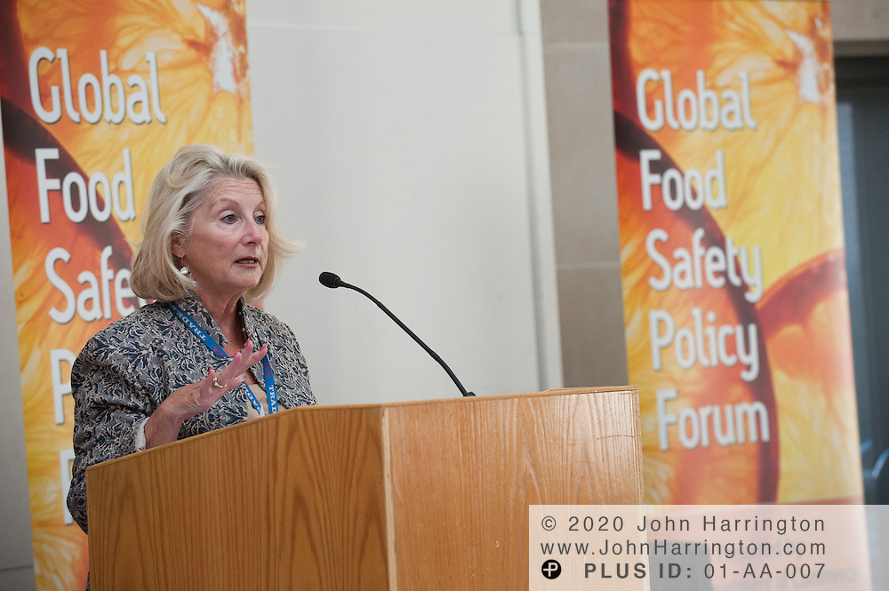 Maureen Smith, Deputy Assistant Secretary, Manufacturing and Services, International Trade Administration, U.S. Department of Commerce gives the opening remarks at the Global Food Safety Policy Forum at the Ronald Reagan Building in Washington, DC on September 16th, 2011.