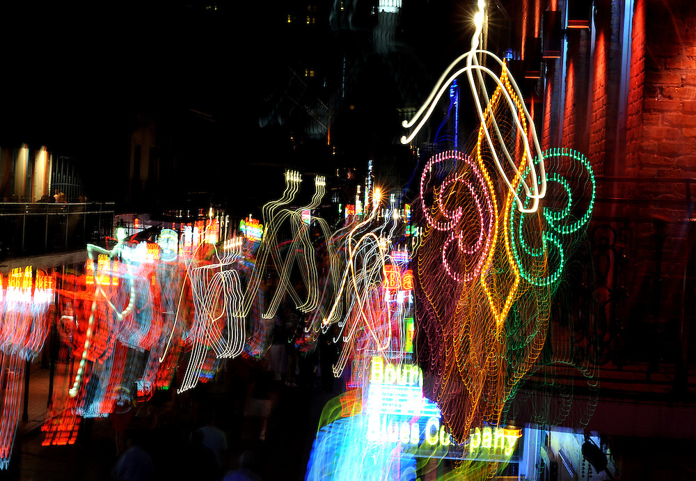 Photo By Michael R. Schmidt.Bourbon Street, New Orleans 2012.