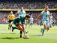 Picture by Andrew Tobin/Focus Images Ltd +44 7710 761829.25/05/2013. Niall Morris of Leicester scores the first try during the Aviva Premiership match at Twickenham Stadium, Twickenham.