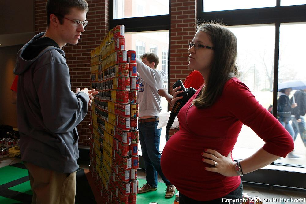 Pregnant women at work.