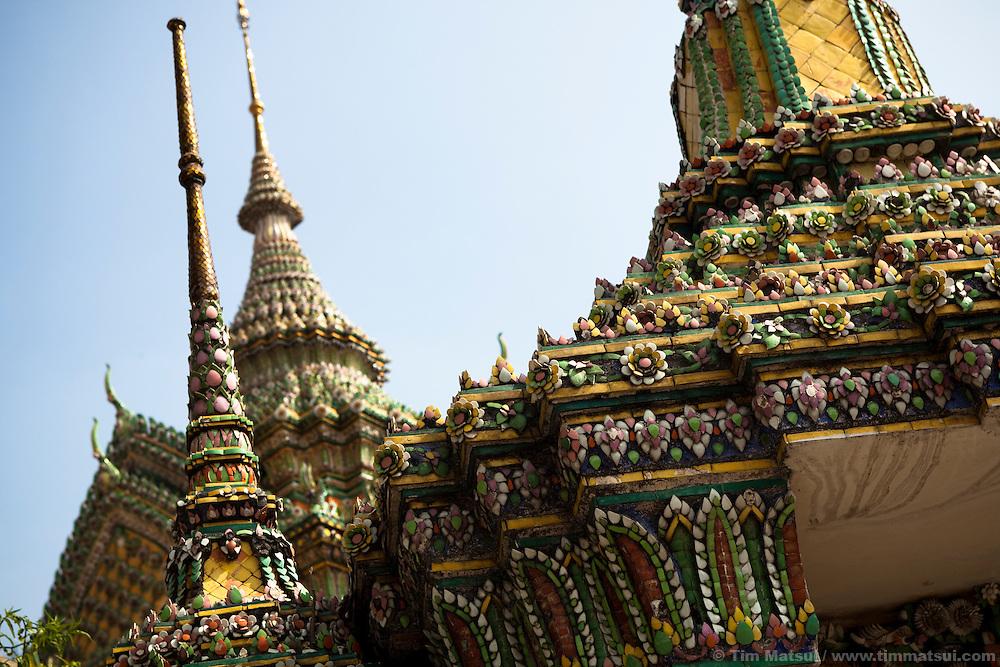 Temple buildings at Wat Pho, Bangkok, Thailand.