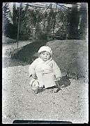 toddler in garden France circa 1920s