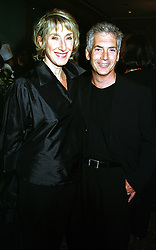 Left to right, leading make up artist  BARBARA DALY and her husband MR LAURENCE TARLO, at a party in London on 22nd September 1999.MWR 44