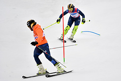 KNIGHT Millie B2 GBR Guide: WILD Brett competing in the ParaSkiAlpin, Para Alpine Skiing, Slalom at the PyeongChang2018 Winter Paralympic Games, South Korea.