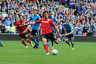 Peter Whittingham of Cardiff city © scores his sides 2nd goal from a penalty. NPower championship, Cardiff city v Leeds United at the Cardiff city stadium in Cardiff, South Wales on Sat 15th Sept 2012.   pic by  Andrew Orchard, Andrew Orchard sports photography,