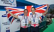 Aiguebelette, FRANCE.  GBR LW2X. Silver Medallist left, Charlotte TAYLOR and Eleanor PIGGOTT. 12:14:47  Sunday  22/06/2014. [Mandatory Credit; Peter Spurrier/Intersport-images]