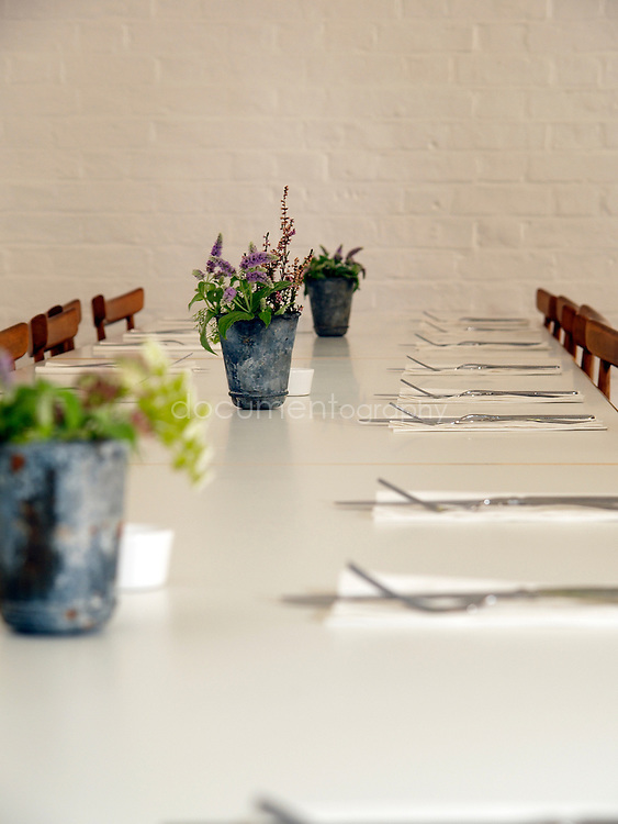 The tables at La Rochelle Canteen, London