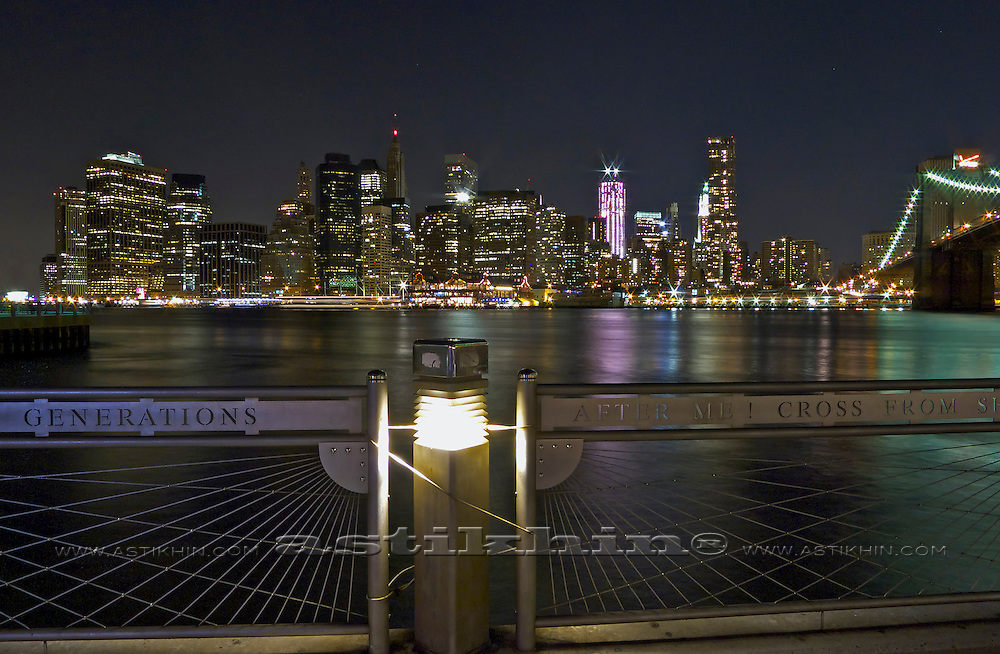 View from Brooklyn at night.