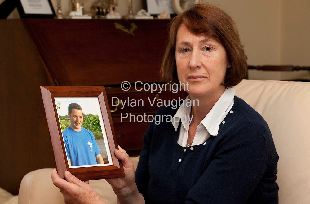 10/6/2009.Jane Williams pictured with a picture of her son Hugh..Picture Dylan Vaughan.