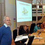 NLD/Huizen/20060411 - Oprichtingsvergadering voedselbank gemeentehuis Huizen, spreker Marijnissen