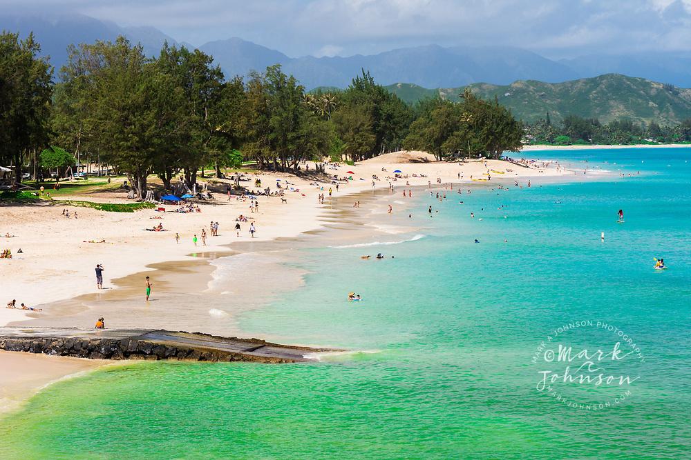 Kailua Beach Park, Kailua Bay, Oahu, Hawaii