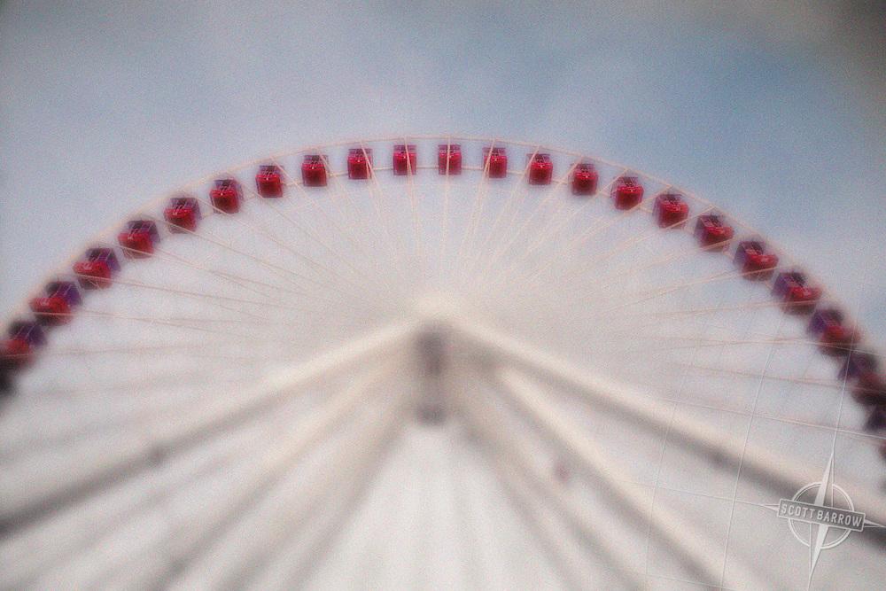 The Ferris Wheel on Navy Pier in Chicago, Illinois.