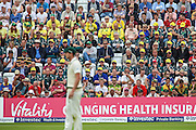 Australian fans during 2nd day of the Investec Ashes Test match between England and Australia at Trent Bridge, Nottingham, United Kingdom on 7 August 2015. Photo by Shane Healey.