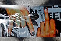 New York, New York City. Stinky figure poster.