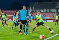 NOVI SAD - 17-08-2016, Vojvodina - AZ, Karadjordje Stadion, training, persconferentie, AZ speler Thomas Ouwejan, AZ speler Ron Vlaar