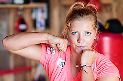 19.06.2017, Powerhof, Adnet, AUT, OeSV, Boxtraining Damen Slalom Team, im Bild Katharina Gallhuber (AUT) // during a Boxing Training Camp of the Austrian Ladies Slalom Team at the Powerhof in Adnet, Austria on 2017/06/19. EXPA Pictures © 2017, PhotoCredit: EXPA/ JFK