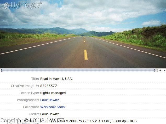 ROAD IN HAWAII ,USA