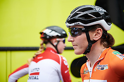 Lisa Brennauer (GER) makes her way to sign on at Emakumeen Bira 2018 - Stage 3, a 114.5 km road race starting and finishing in Aretxabaleta, Spain on May 21, 2018. Photo by Sean Robinson/Velofocus.com
