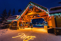 River Run Village during holidays, Keystone Resort, Colorado USA.