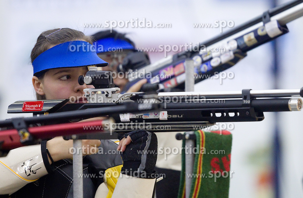 Ziva Dvorsak of Slovenia during International Air Rifle and Air Pistol competition Ruse 2011, on January 16, 2011 in Ruse at Maribor, Slovenia. (Photo By Vid Ponikvar / Sportida.com)