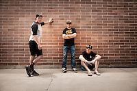 Chris Akrigg, Greg Watts and Mike Montgomery, Park City, Utah.