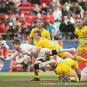 England beat Australia 10-7 in the Challenge Trophy Final at the USA Sevens,  Round Five of the World Rugby HSBC Sevens Series in Las Vegas, Nevada, Sunday March 5, 2017. <br /> <br /> Jack Megaw for USA Sevens.<br /> <br /> www.jackmegaw.com<br /> <br /> jack@jackmegaw.com<br /> @jackmegawphoto<br /> [US] +1 610.764.3094<br /> [UK] +44 07481 764811