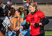 AMSTELVEEN - goalkeeper Rachael Lynch (Austr.)  Semi Final Pro League  women, Argentina-Australia (1-1) . Austr. wns. COPYRIGHT KOEN SUYK