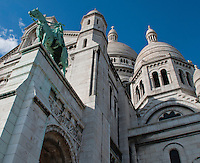 View looking up at the Sacre Coeur Church, Paris