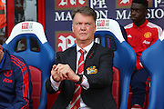 Manchester United Manager Louis van Gaal during the Barclays Premier League match between Crystal Palace and Manchester United at Selhurst Park, London, England on 31 October 2015. Photo by Ellie Hoad.