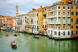 View of the Grand Canal from the Rialto Bridge (Ponte di Rialto), Venice, Italy<br /> <br /> (c) Andrew Wilson | Edinburgh Elite media