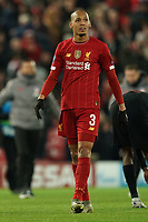 Football - 2019 / 2020 UEFA Champions League - Round of Sixteen, Second Leg: Liverpool (0) vs. Atletico Madrid (1)<br /> <br /> Liverpool's Fabinho at the end of the match, at Anfield.<br /> <br /> <br /> COLORSPORT/TERRY DONNELLY