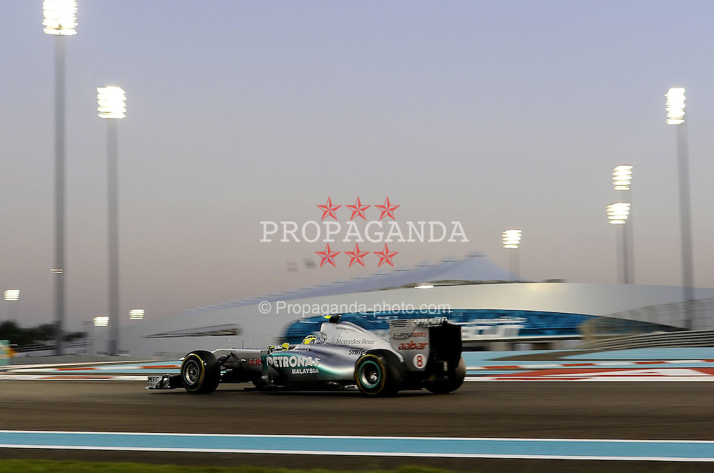 12.11.2011, Yas-Marina-Circuit, Abu Dhabi, UAE, Grosser Preis von Abu Dhabi, im Bild Nico Rosberg (GER), Mercedes GP  // during the Formula One Championships 2011 Large price of Abu Dhabi held at the Yas-Marina-Circuit, 2011/11/12. EXPA Pictures © 2011, PhotoCredit: EXPA/ nph/ Dieter Mathis..***** ATTENTION - OUT OF GER, CRO *****