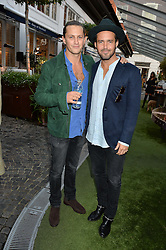 Left to right, CHARLIE MORRIS and SPENCER MATTHEWS at the Bluebird's End of Summer Party with Taylor Morris held at Bluebird, 350 King's Road, London on 29th September 2016.