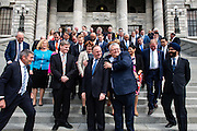 WELLINGTON, NEW ZEALAND - October 15: Rt Hon John Key and Ministers at Parliament October 18, 2016 in Wellington, New Zealand. (Photo by Mark Tantrum/ http://marktantrum.com)