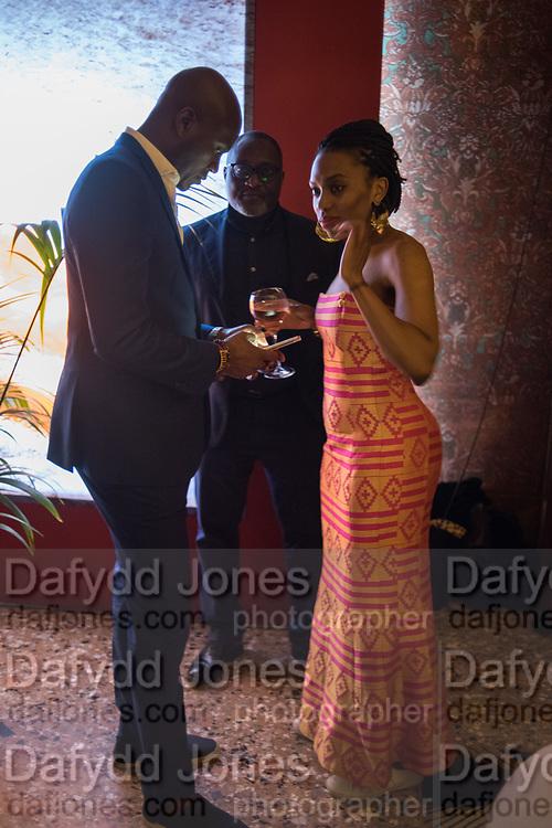 BENJI NTIM, JOE ATTA, LISA ANDERSON, Ghana party, Venice, 8 May 2019