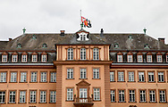 Bad Berleburg , 20-03-2017 <br /> <br /> <br /> Flag half mast at Bad Berleburg Castle where Prince Richard zu Sayn-Wittgenstein-Berleburg passed away.<br /> <br /> <br /> COPYRIGHT: ROYALPORTRAITS EUROPE/ BERNARD RUEBSAMEN