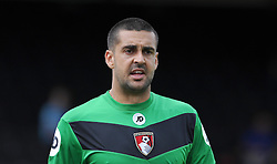 Bournemouth's Adam Federici- Photo mandatory by-line: Harry Trump/JMP - Mobile: 07966 386802 - 18/07/15 - SPORT - FOOTBALL - Pre Season Fixture - Exeter City v Bournemouth - St James Park, Exeter, England.