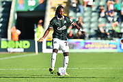 Tafari Moore (22) of Plymouth Argyle during the EFL Sky Bet League 1 match between Plymouth Argyle and Burton Albion at Home Park, Plymouth, England on 20 October 2018.