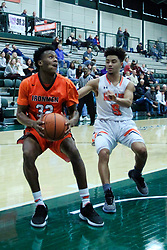 29 December 2018: LSB31 consolation game between the Normal Ironmen and the Machesney Park Harlem Huskies at the State Farm Holiday Classic Coed Basketball Tournament at Shirk Center, Bloomington Illinois