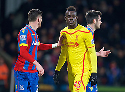 LONDON, ENGLAND - Saturday, February 14, 2015: Liverpool's Mario Balotelli in action against Crystal Palace during the FA Cup 5th Round match at Selhurst Park. (Pic by David Rawcliffe/Propaganda)