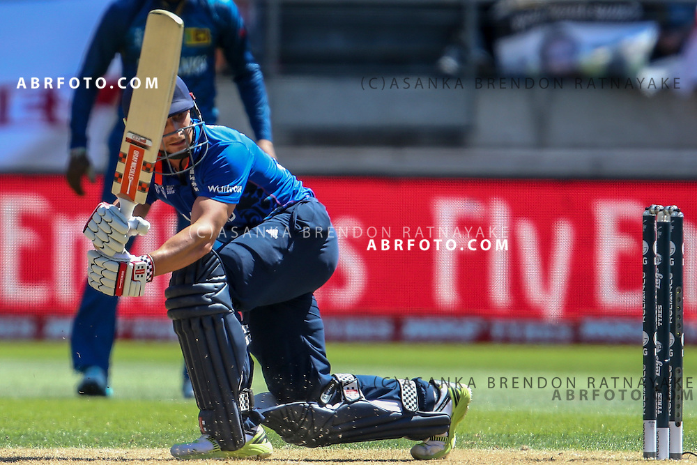 James Taylor batting during the 2015 ICC Cricket World Cup Pool A group match between England Vs Sri Lanka at the Wellington Regional Stadium, Wellington, New Zealand.