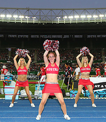 15.07.2011, Ernst Happel Stadion, Wien, AUT, American Football WM 2011, Japan (JAP) vs Mexico (MEX), im Bild cheerleader // during the American Football World Championship 2011 game, Japan vs Mexico, at Ernst Happel Stadion, Wien, 2011-07-15, EXPA Pictures © 2011, PhotoCredit: EXPA/ T. Haumer
