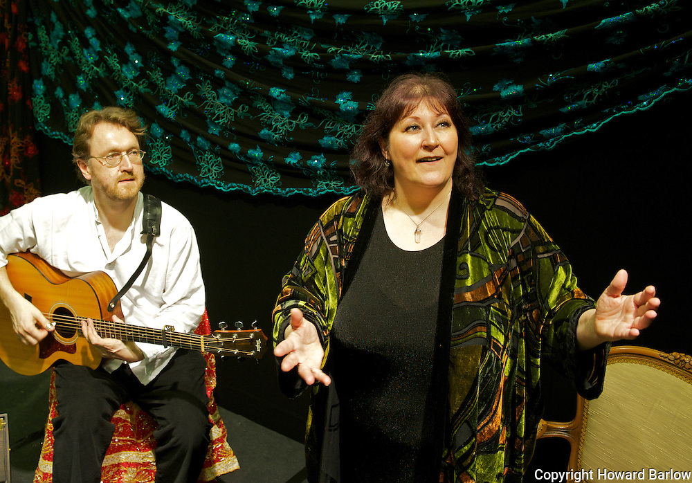 Shonaleigh Cumbers deputy National Storytelling Laureate with musician Simon Heywood