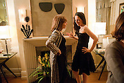 BONNIE MORRIS; NATHALIE ESTFANDI;, Dinner hosted by Denise Estfandi, for the Council of the Serpentine Gallery to celebrate the opening of  Nancy Spero at the Serpentine Gallery. London.  Upper Brook house. 10a upper brook st.1 March 2011. -DO NOT ARCHIVE-© Copyright Photograph by Dafydd Jones. 248 Clapham Rd. London SW9 0PZ. Tel 0207 820 0771. www.dafjones.com.
