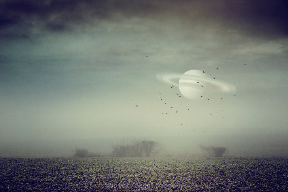 Surreal landscape with Saturn<br /> Prints &amp; more: https://society6.com/product/in-my-other-world-hol_print#1=45<br /> <br /> Redbubble: http://www.redbubble.com/people/dyrkwyst/works/21818846-in-my-other-world?p=art-print