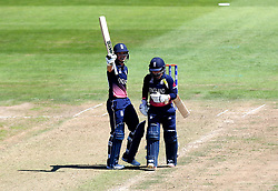 Sarah Taylor of England Women raises her bat after reaching 50 against South Africa Women - Mandatory by-line: Robbie Stephenson/JMP - 05/07/2017 - CRICKET - County Ground - Bristol, United Kingdom - England Women v South Africa Women - ICC Women's World Cup Group Stage