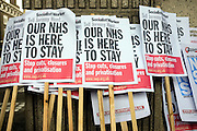 © Licensed to London News Pictures. 16/02/2013. Hammersmith, UK Activists hold a protest today, 16th February 2013, outside Hammersmith Town Hall at the end of a week of action against the forthcoming closure of NHS A&E departments at Hammersmith, Charing Cross, Ealing and Central Middlesex hospitals.  Photo credit : Stephen Simpson/LNP
