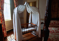The crib of Robet E. Lee at Stratford Hall Plantation in Westmoreland County, Virginia, Stratford Hall  was the home of four generations of the Lee family of Virginia, including two signers of the Declaration of Independence, and was the birthplace of Robert E. Lee, Confederate General-in-chief during the American Civil War.